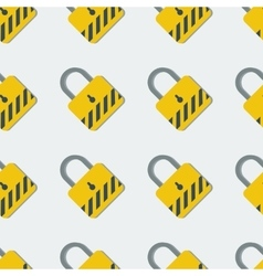 Seamless pattern with yellow safety lock vector