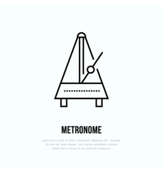 Modern line icon of metronome music vector