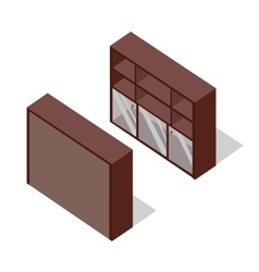 Rack in isometric projection vector