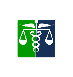 Caduceus health balance vector