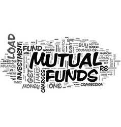 Is your mutual fund the right one for you text vector