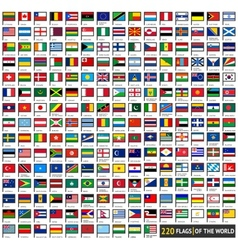 Flags flat sets vector