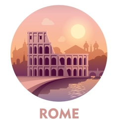 Travel destination rome vector