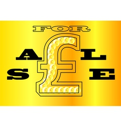 Sale sign uk vector