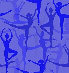 Seamless pattern of ballet dancers vector image