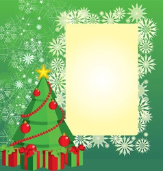 color christmas tree vector image