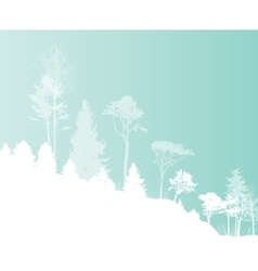 Image of nature tree silhouette eco banner vector