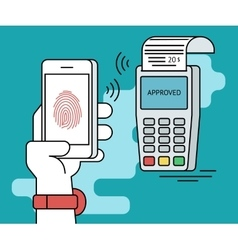 Mobile payment via smartphone using fingerprint vector