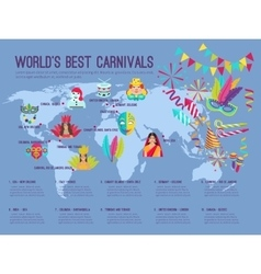 Carnival infographic vector