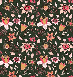 Abstract Elegance seamless floral pattern Seamless vector image vector image