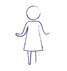 blurred blue silhouette of pictogram woman in vector image vector image