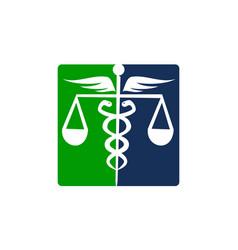 Caduceus health balance vector