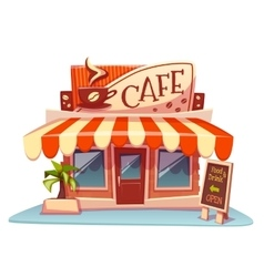 cafe building with bright vector image vector image