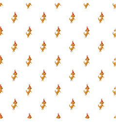 Circus dog pattern vector