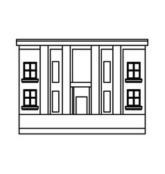 City hall architecture facade of building exterior vector