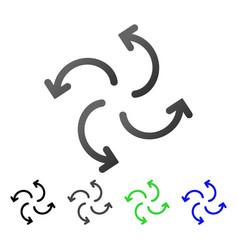 Cyclone arrows flat gradient icon vector