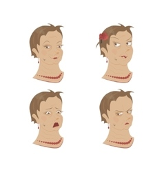 Different Expression of emotion vector image