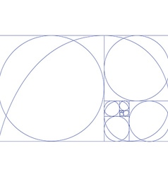 Fibonaci spiral vector