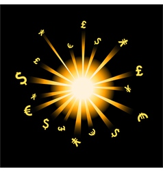 forex explosion vector image vector image