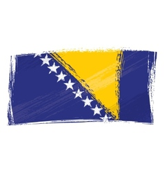 Grunge Bosnia and Herzegovina flag vector image vector image