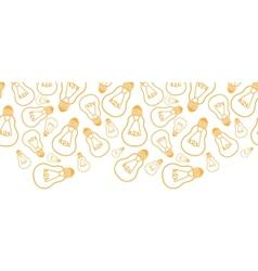 Light bulbs line art horizontal seamless pattern vector image