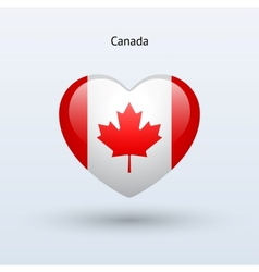 Love Canada symbol Heart flag icon vector image vector image