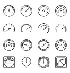 Meter icons vector
