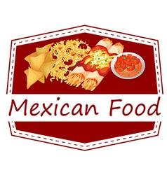 Mexican food vector image vector image