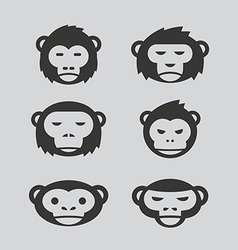 monkey design set vector image