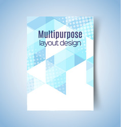 multipurpose layout design 7 vector image vector image