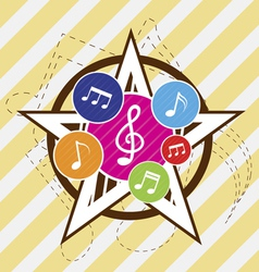 music star festival vector image vector image