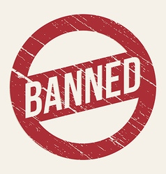 Red Banned sign vector image