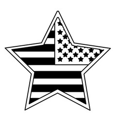 Star badge with flag united states usa icon image vector