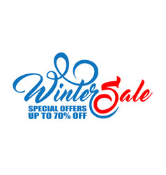 text winter sale in two color vector image vector image