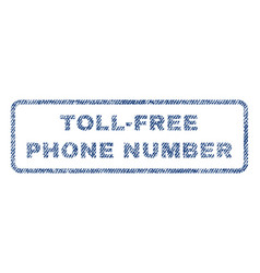 Toll-free phone number textile stamp vector
