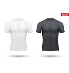 Under layer compression shirt of thermo fabric vector