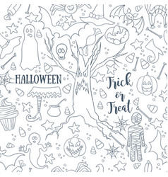white halloween seamless patterns endless vector image vector image