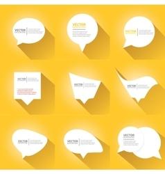 white cut paper speech bubbles on orange vector image