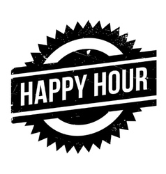 Happy hour stamp vector