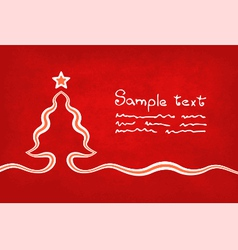 Red christmas card vector