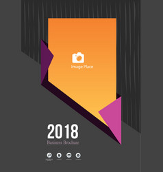 2018 dark brochure cover concept vector