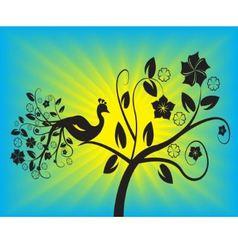 bird in a tree vector image