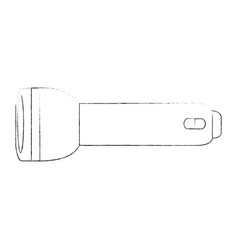 Camping flashlight isolated vector