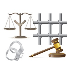 law icons 03 vector image