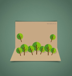 Nature banner paper with trees vector