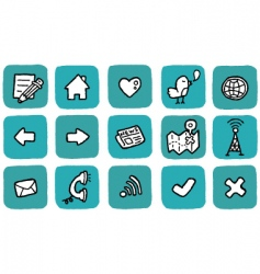 Doodle icon set  website vector