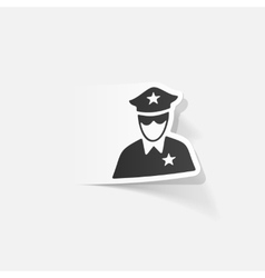Realistic design element police officer vector