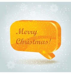 chtistmas tree speech bubbles vector image