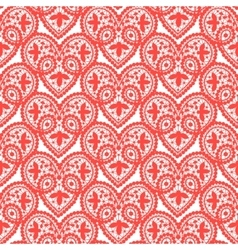 Heart lace pattern vector image