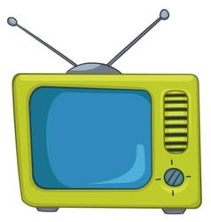 Cartoon appliences old tv vector